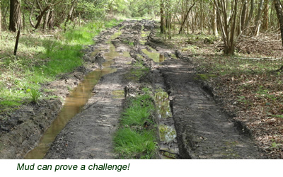 Mud can prove a challenge!